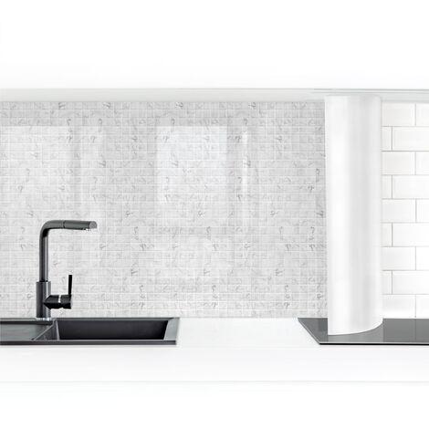 Crédence adhésive - Mosaic Tile Marble Look Bianco Carrara