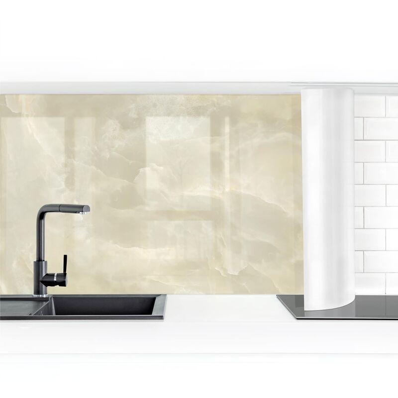 Crédence adhésive - Onyx Marble Cream Dimension: 60x400cm Matériel: Magnetique