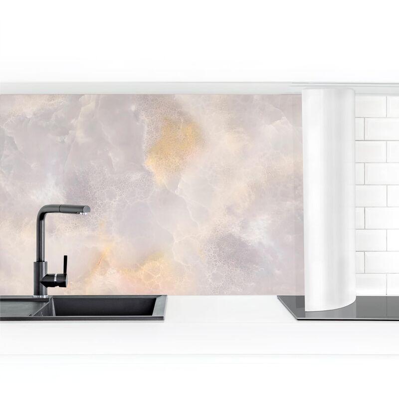 Crédence adhésive - Onyx Marble Dimension: 80x400cm Matériel: Magnetique