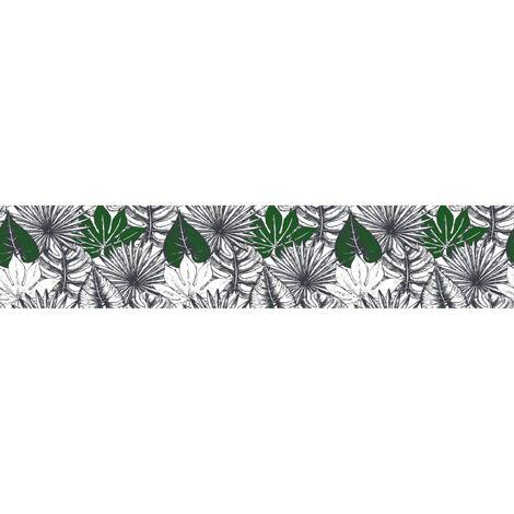 Crédence adhésive tropicale en PVC Capri - L. 200 x l. 40 cm - Vert - Vert