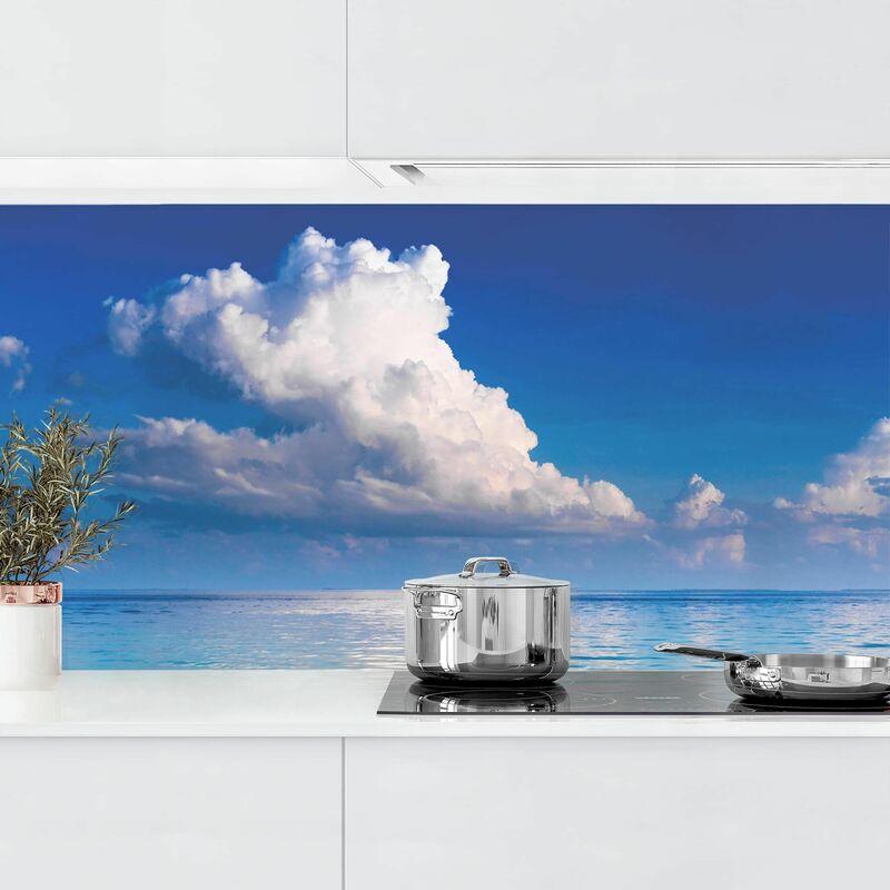 Crédence adhésive - Turquoise Lagoon Dimension: 100x350cm Matériel: Magnetisch