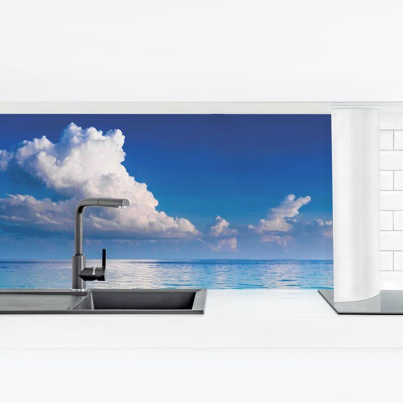 Crédence adhésive - Turquoise Lagoon Dimension: 100x350cm Matériel: Premium