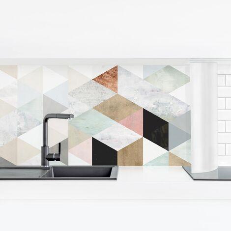 Crédence adhésive - Watercolor Mosaic II Dimension: 40x140cm Matériel: Smart