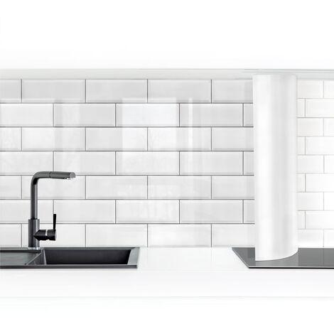 Crédence adhésive - White Ceramic Tiles