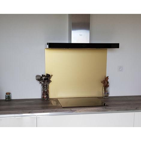 """main image of """"Crédence Aluminium Anodisé Or - Hauteur 60 cm (Plusieurs Largeurs disponibles)"""""""