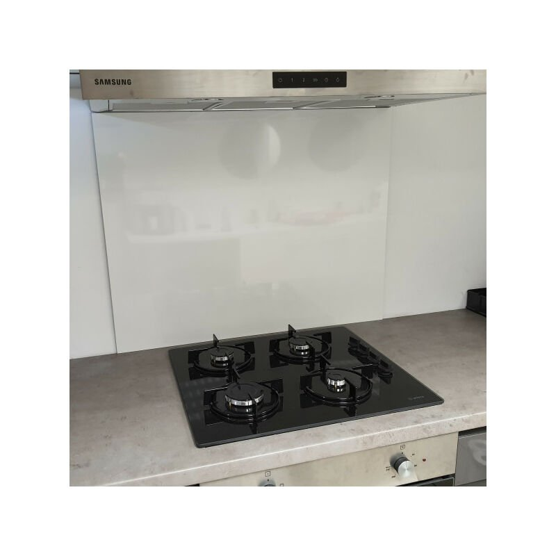 Fonde de hotte / Crédence Blanc Securite H 25 cm x L 90 cm de 1,5 mm