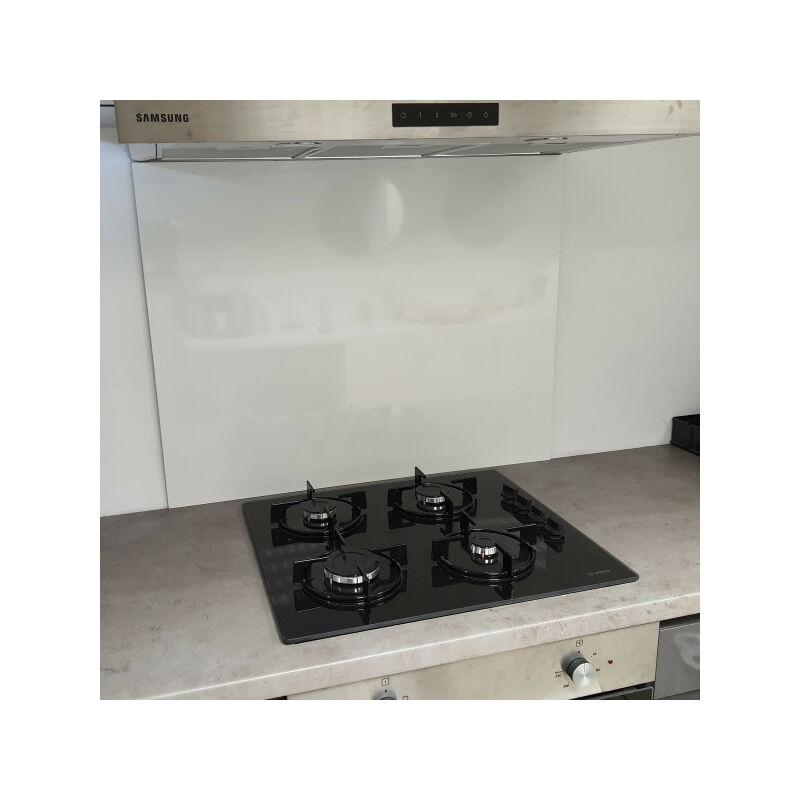 Fonde de hotte / Crédence Blanc Securite H 60 cm x L 90 cm de 1,5 mm
