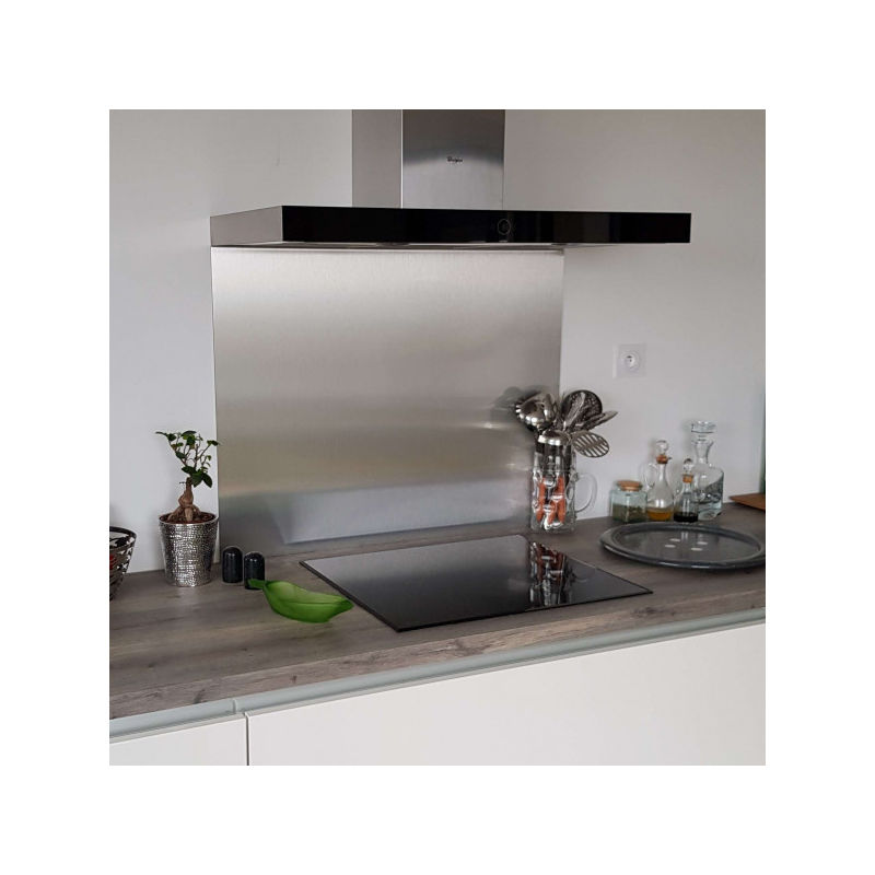 Hauteur 20 cm x Largeur 50 cm Cr/édence Inox Poli Miroir