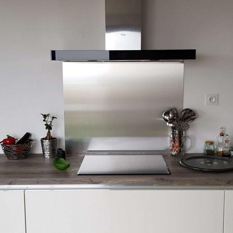 cr dence aspect inox bross composite hauteur 75 cm x. Black Bedroom Furniture Sets. Home Design Ideas