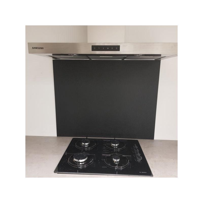 Crédence Composite Aluminium aspect Noir Marbré - Hauteur 50 cm x Largeur 70 cm - ALUCOULEUR