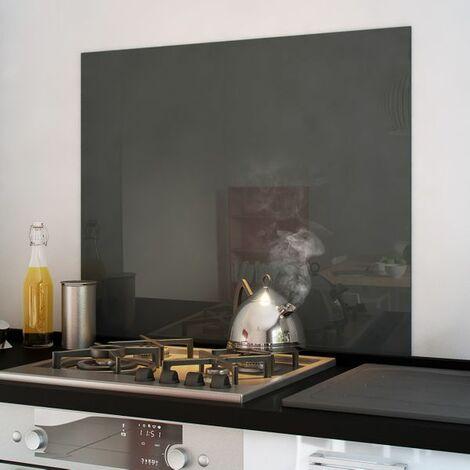 Crédence cuisine fond de hotte verre brillant - Basalt 900x750 mm 90cm de large
