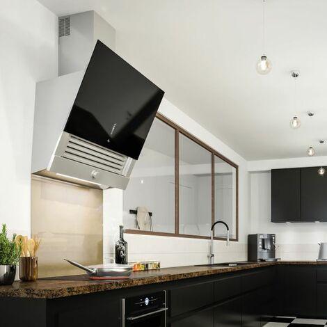 Crédence cuisine fond de hotte verre Bronze métallique - 900x700 mm