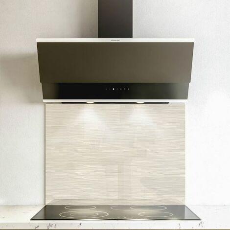 Crédence cuisine fond de hotte verre Madras Line - 900x700 mm