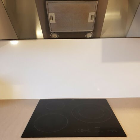 Crédence de cuisine Aluminium BLANC Ral 9016 de 1,5mm H 20 cm - Plusieurs Largeurs disponibles
