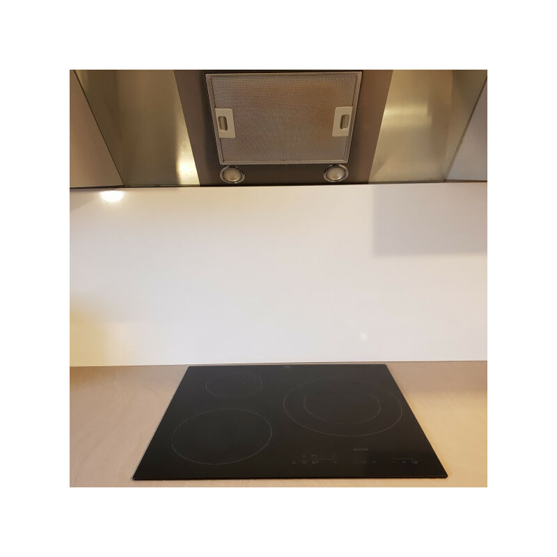 Fond de Hotte / Crédence Blanc Ral 9016 H 55 cm x L 90 cm de 1,5 mm