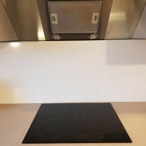 Crédence de cuisine Aluminium BLANC Ral 9016 de 1,5mm H 65 cm - Plusieurs Largeurs disponibles