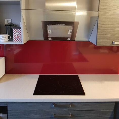 Crédence de cuisine Aluminium ROUGE POURPRE RAL 3004 de 1,5mm H 20 cm - Plusieurs Largeurs disponibles