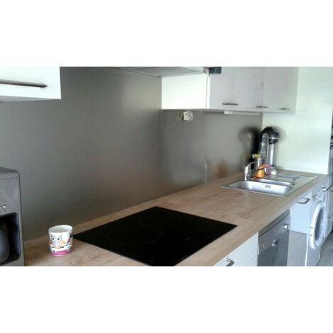 Crédence de cuisine Anodisé brossé de 1,5mm H 20 cm - Plusieurs Largeurs disponibles