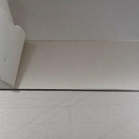 Crédence de cuisine Anodisé brossé de 1,5mm H 75 cm - Plusieurs Largeurs disponibles