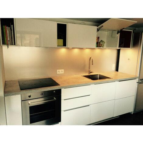 Crédence de cuisine en Aluminium Anodisé de 1,5mm Hauteur 40 cm- Plusieurs Largeurs disponibles