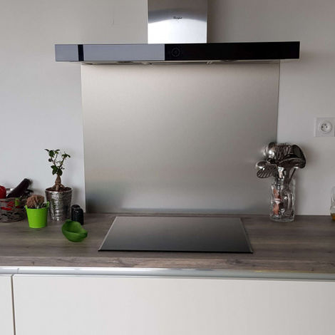 Crédence en Aluminium Brossé composite - Hauteur 20 cm (Plusieurs Largeurs disponibles)