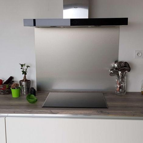 Crédence en Aluminium Brossé composite - Hauteur 75 cm (Plusieurs Largeurs disponibles)