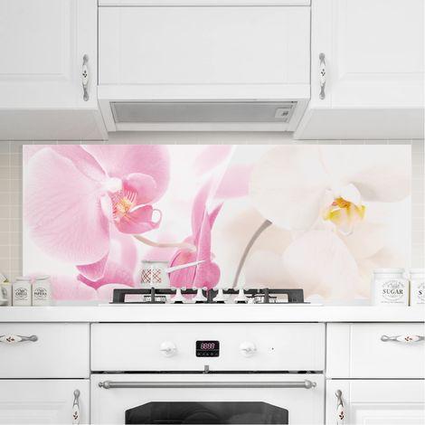 Crédence en verre - Delicate Orchids - Panorama