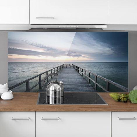 Crédence en verre - Footbridge Promenade - Paysage 1:2 Dimension: 59cm x 120cm