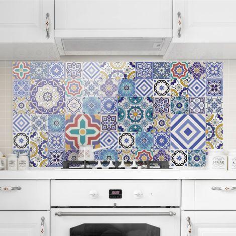 Crédence en verre - Mirror Tiles - Elaborate Portuguese Tiles - Paysage 1:2