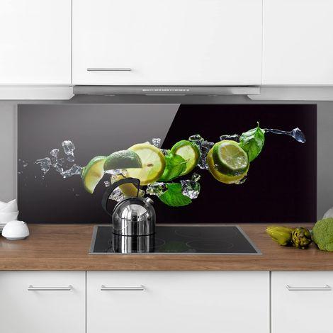 Crédence en verre - Mojito ingredients - Panorama Dimension: 50cm x 125cm