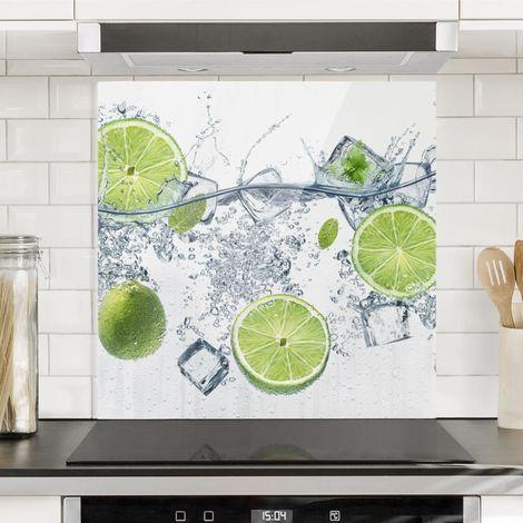Crédence en verre - Refreshing Lime - Carré 1:1 Dimension: 59cm x 60cm