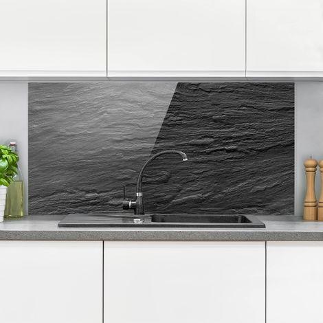 Crédence en verre - Slate - Paysage 1:2 Dimension: 59cm x 120cm