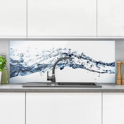 Crédence en verre - Water Splash - Panorama Dimension: 50cm x 125cm