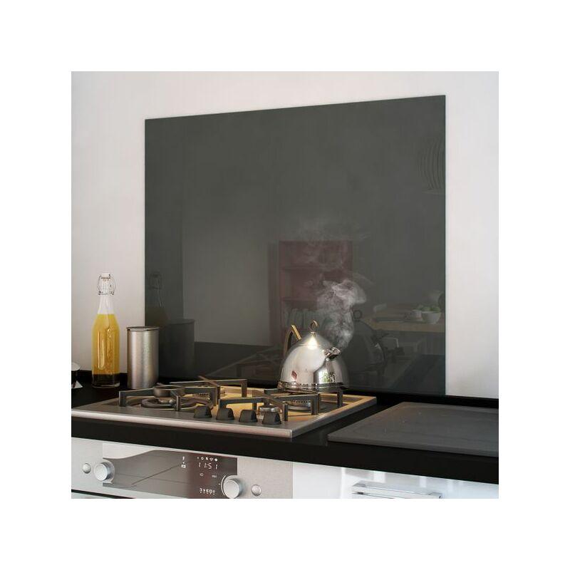 Crédence cuisine fond de hotte verre brillant - Basalt 900x750 mm