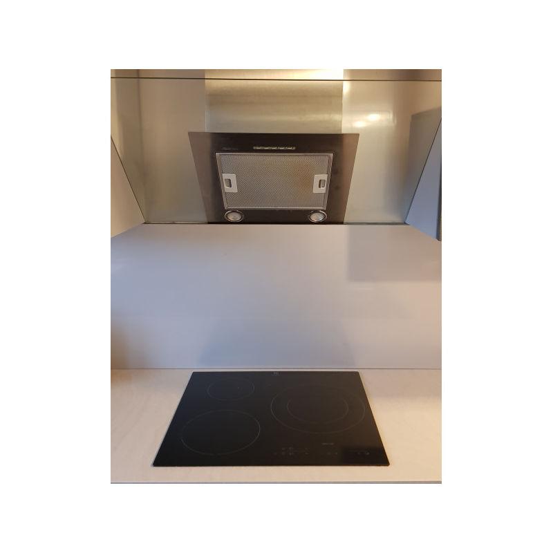 Fond de Hotte / Crédence Inox H 55 cm x L 90 cm de 1 mm