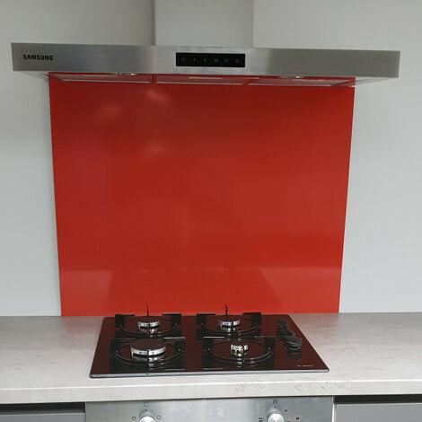 Crédence Rouge RAL 3020 de 1,5 mm- Hauteur 70 cm - Plusieurs Largeurs disponibles
