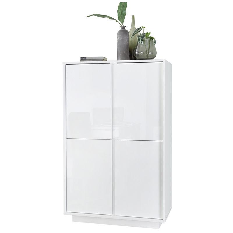 Miliboo - Credenza balta di design bianca laccata lucida COMO