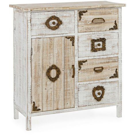 Credenza juliet mobile struttura in legno cassettiera country moderna  soggiorno