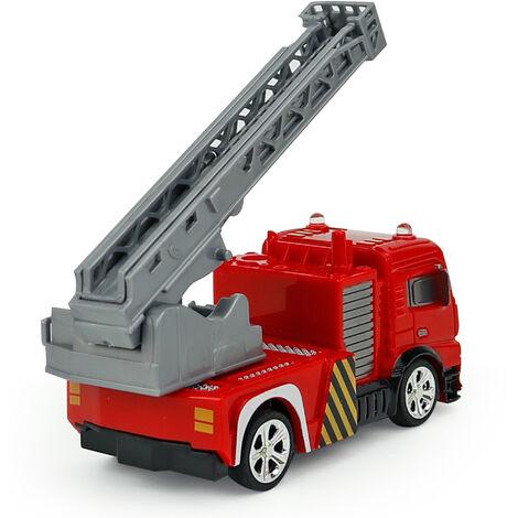 Creer Jouets Shenqiwei 8027 1/58 Mini Ladder Truck Fire Engine Mini Telecommande Voiture Cadeau De Noel Vehicule, Rouge, Camion Echelle