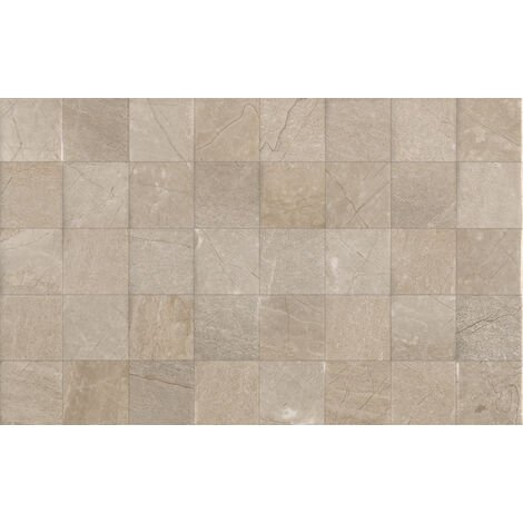 Crema Dorsia Dark Décor 25x50 Ceramic Tile