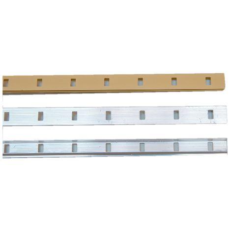 Crémaillère aluminium à encastrer 1337 VACHETTE - Anodisé argent - L.2 m - 0290254