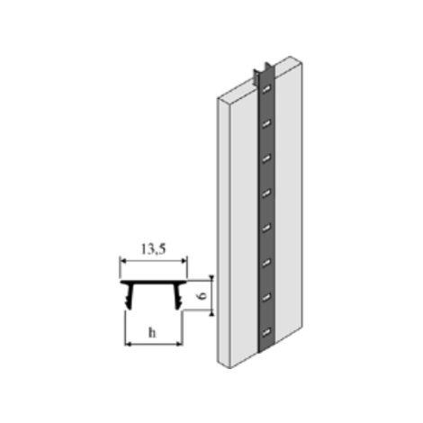 Crémaillère aluminium à encastrer 1337 VACHETTE - Anodisé or - L.2 m - 0290247