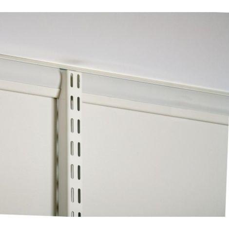 Crémaillères à suspendre pour crémaillères et consoles - Système suspendu - longueur 924 mm - finition blanc