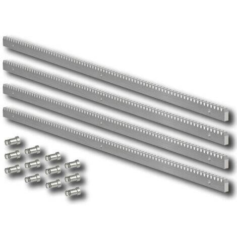 cremallera acero galvanizado m4 30x12 - 4 piezas de 1 metro -
