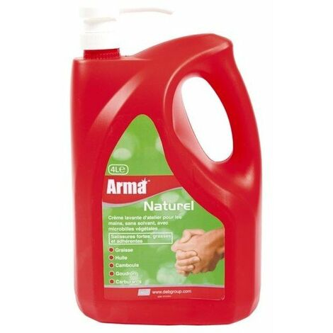 Creme nettoyante naturelle microbilles ph neutre - bidon 4lpompe int