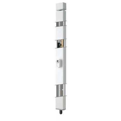 Crémone à cylindre européen en applique 2 points finition gris type Secure Bar