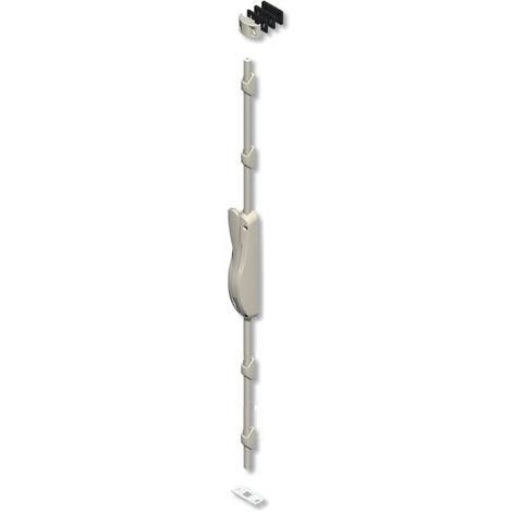 Crémone DS6887 + 1 Tringle blanche 2.50m + 4 passants RAL 9016 LA CROISEE DS - DS6887-785 + DS6888-785 + B3-785