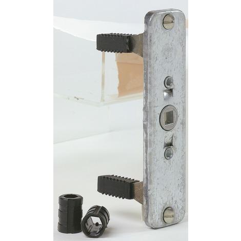 Crémone extra-plate pour tringle à larder 8 x 5 - Longueur 130 mm - Largeur 30 mm