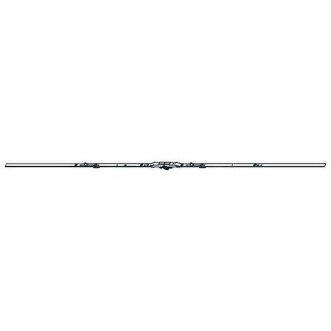 Crémone porte barillet ajustable HE100 ROTO F28mm A70 L.1125 D1000 - 2 galets - 619906