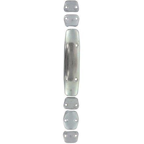 Crémone pour tringle 1/2 ronde 16 x 6 - Bouton inox